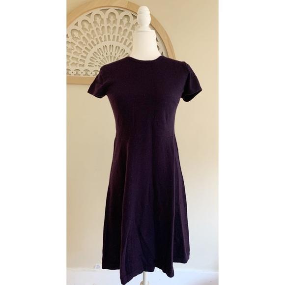 Kinross Cashmere Crewneck Short Sleeve Dress Sz 4